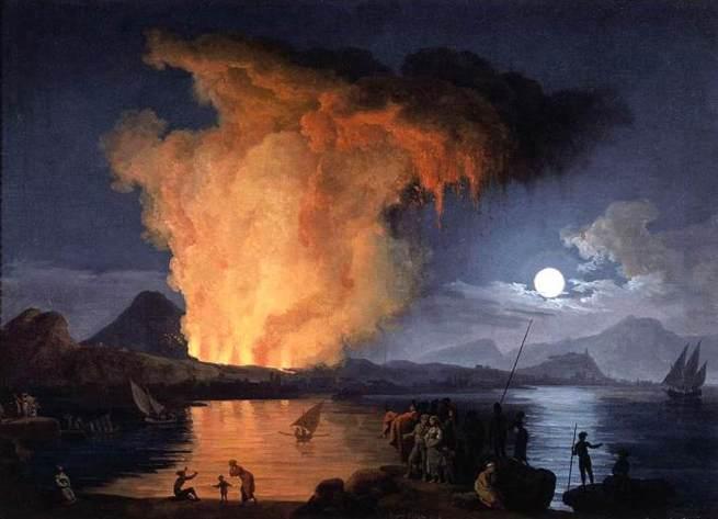 Pierre Jacques Volaire - View of the Eruption of Mount Vesuvius
