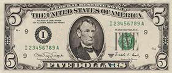 $5 banknote