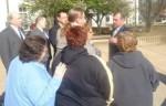 Prosecutor Anthony Krastek speaking with the Houks