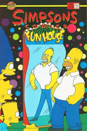 homer simpson funhouse mirror