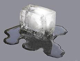 block of ice melting