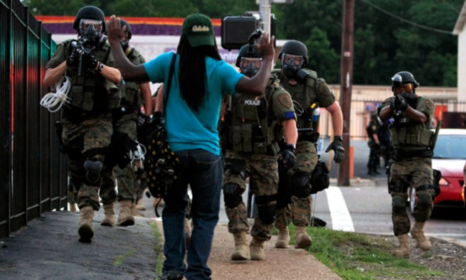 occupied ferguson - photo by Jeff Roberson AP