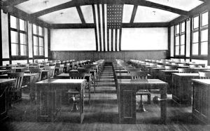 study-hall-with-american-flag