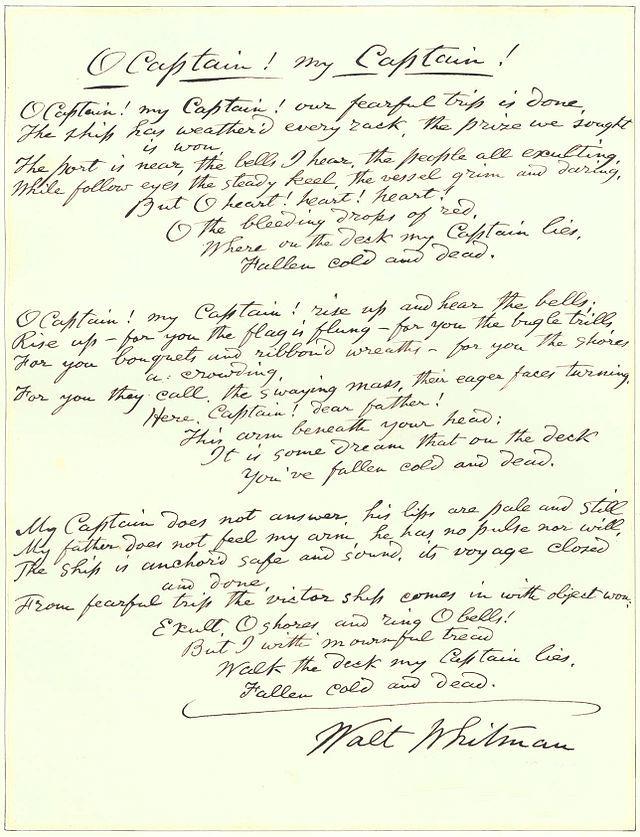 Whitman_Poem_O_Captain_My_Captain_09MAR1887_handwritten