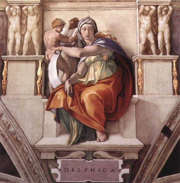 Delphic Sibyl by Michelangelo