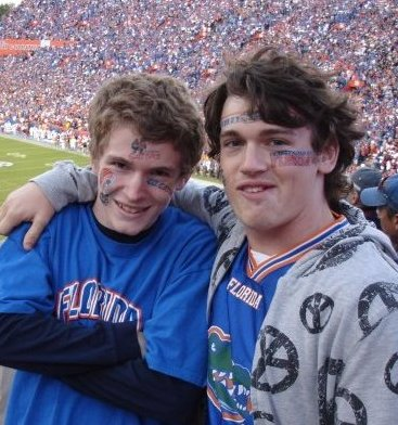 Derek & Alex at Gators Game