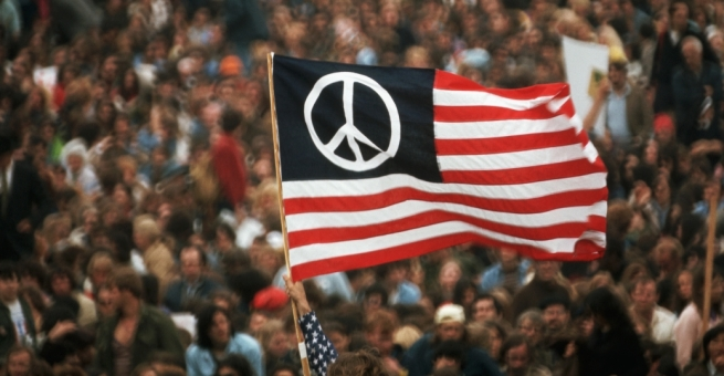 peace-flag-at-antiwar-protest-P