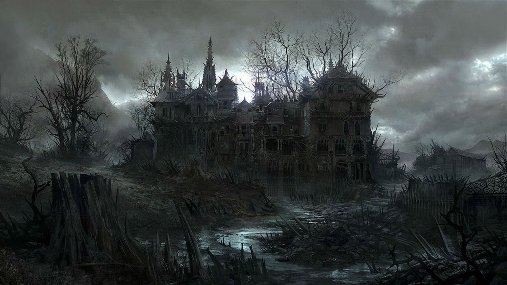 Beautiful Wallpaper Horse Creepy - 1870871-1920x1080-halloween_dark_haunted_house_spooky_1920x1080  Pic_33308.jpg